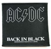 AC/DC - 'Back in Black' Woven Patch